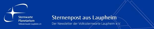Der Newsletter von Planetarium und Sternwarte Laupheim im März